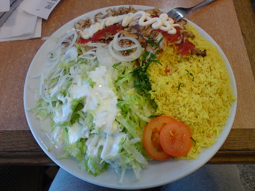 kyckling tallrik med ris