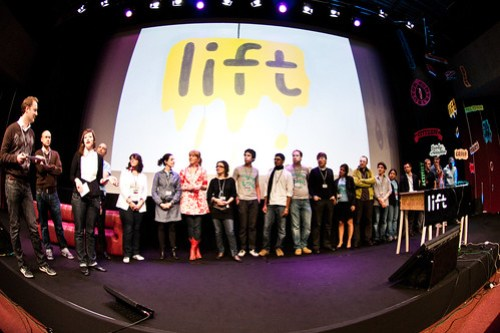 Lift10 Team on Stage