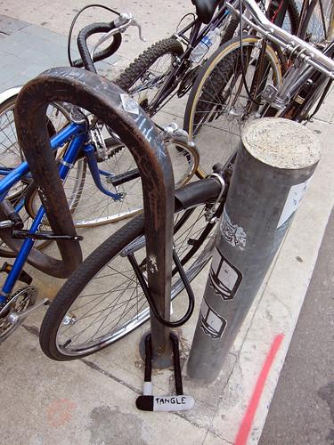 Bike Lock Yarnbomb #3