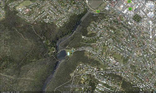 Cataract Gorge On Google Earth