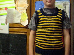 20::365 striped blue and yellow vest for my boy