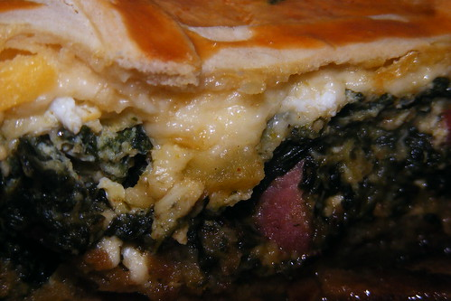 Tarte aux épinards et fromage, spinach and che...