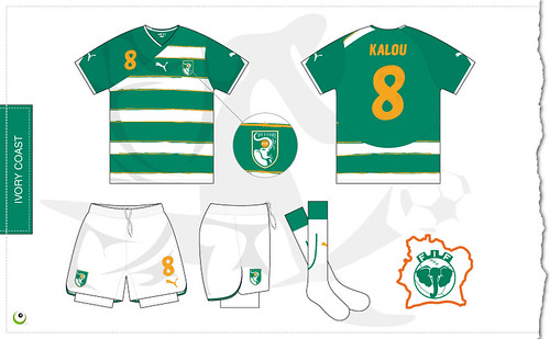 Ivory Coast away kit 2010