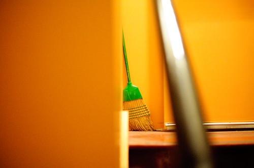 64/365 (Green Broom in an Orange Room)