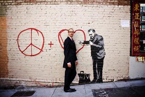 Steven and Banksy.