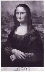 Marcel_Duchamp_Mona_Lisa_LHOOQ, L.H.O.O.Q., karya unik monalisa, louvre museum, leonardo da vinci, renaissance, La Gioconda, La Joconde, Lisa del Giocondo, florence