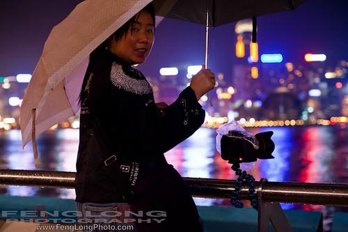 Getting creative a GorillaPod in lieu of a tripod in Hong Kong