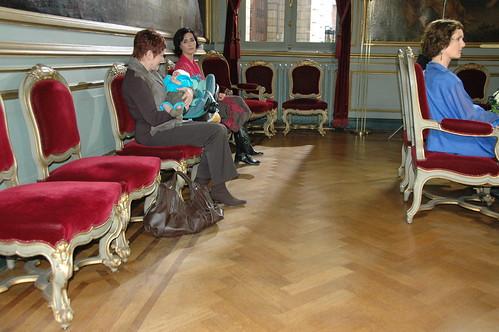 trouwen in beperkte kring - lege zaal