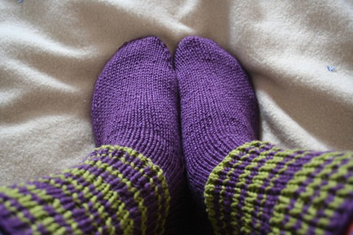 Purple socks version 2