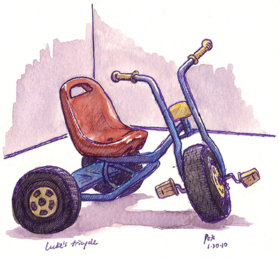 my son's tricycle