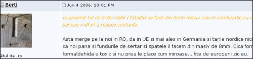 pe forumul inginerilor din industria lemnului aflam ca evitarea formaldehidei este fitza de europeni