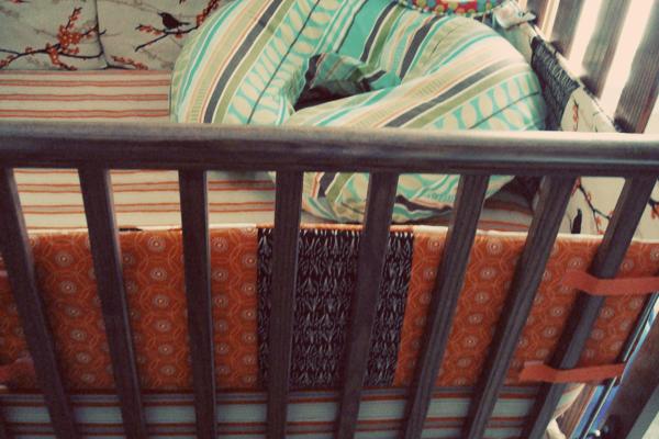 crib bedding + boppy