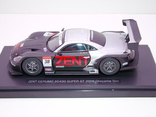 EBBRO ZENT CERUMO SC430 SUPER GT 2009 OKAYAMA TEST (3)