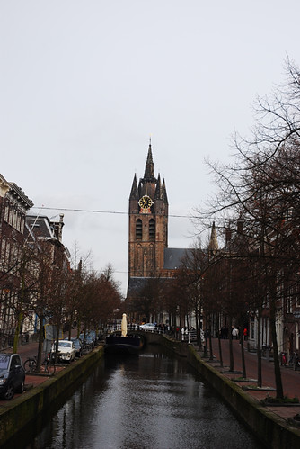 Delft Church, Canal View