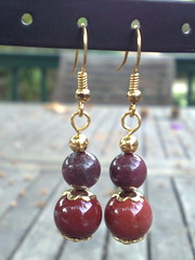 Moukaite jasper earrings