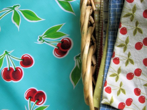 Oilcloth and summer napkins