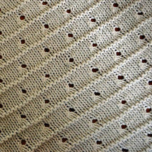Studio Paars gebreide baby deken knit baby blanket breien knitting