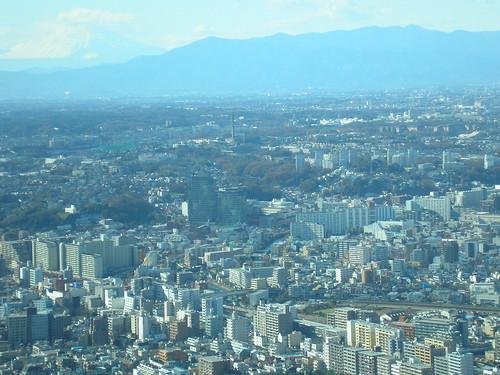 View of Yokohama from the Landmark Tower - Mount. Fuji