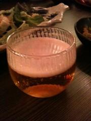こんなかわいいグラスビール初めて