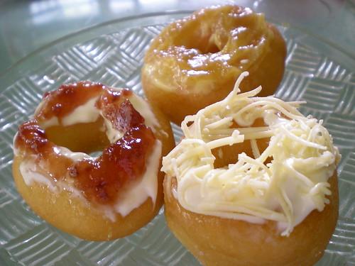 Sibu kampung donuts with toppings