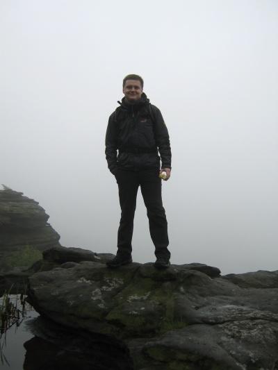 Wanderer über dem Nebelmeer (auf dem Großen Zschirnstein)