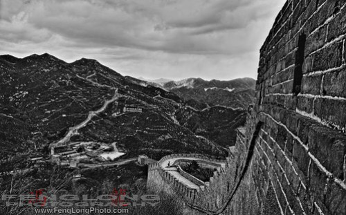 The Great Wall of China - B&W HDR
