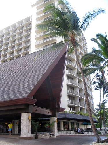 our hotel entrance (the outrigger reef)