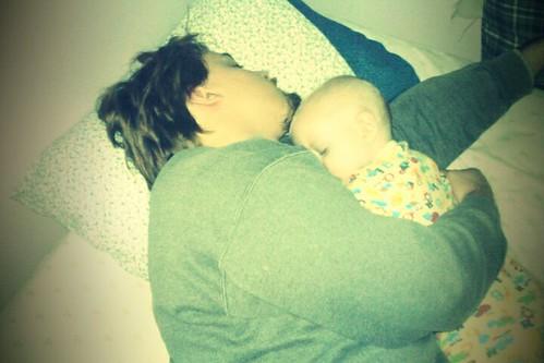 husband cosleeping