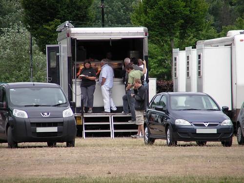 TV filming in Sophia Gardens