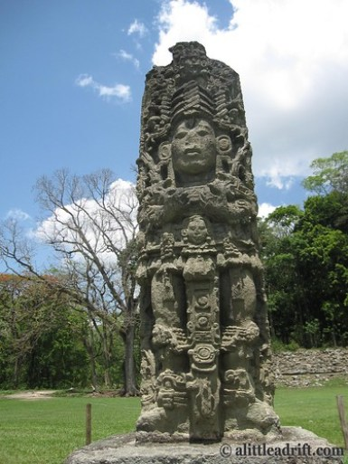 Intricate Carvings at Copan Ruins, Honduras