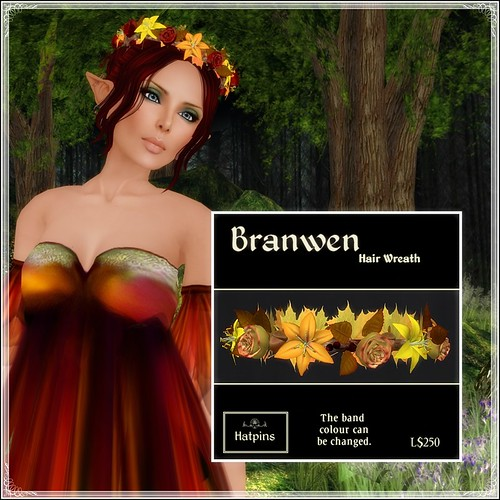 Hatpins - Branwen Wreath - Autumn