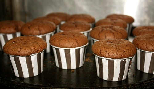 Chocolate Souffle Cupcakes with Mint Cream | Those Greedy ...