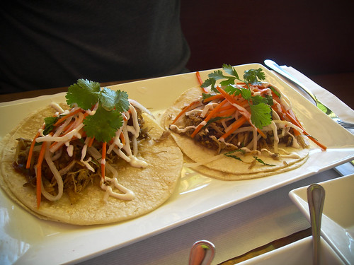 duck confit tacos at Papito