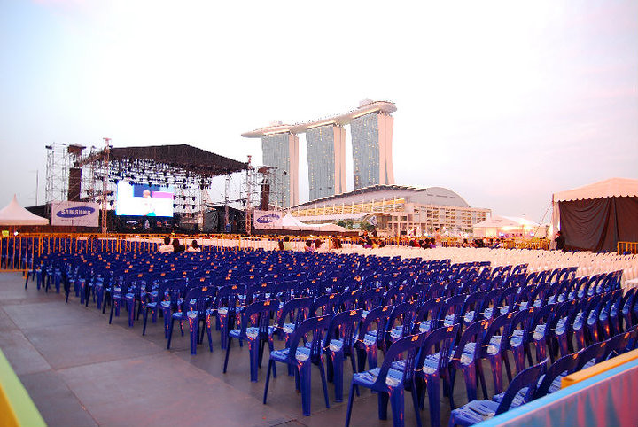Shouldn't the seventh month getai takes place at night?