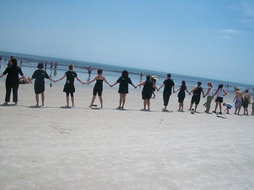 Paul Mitchell the School Jacksonville Green Team - Hands Across  the Sand 2 by Paul Mitchell the School Jacksonville.