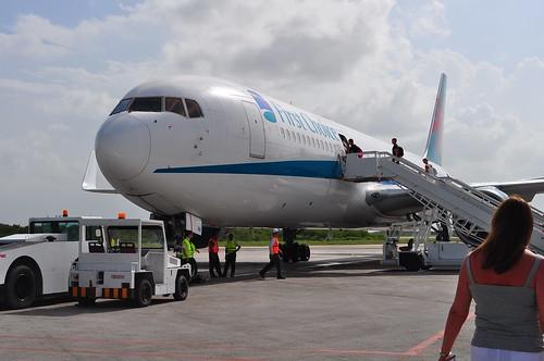 B767 at Holguin's Frank Pais international Airport.