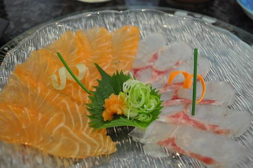 Salmon and Sea Bass Usu Zukuri