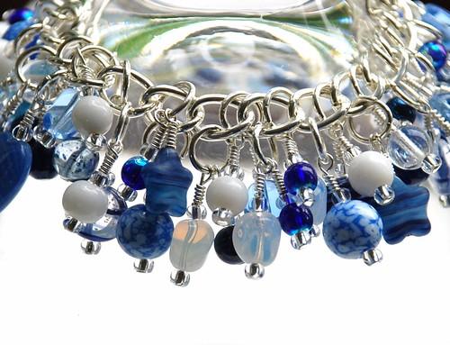 """Vintage blues"" charm bracelet."