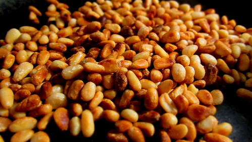 dry roasted pine nuts © dan and tuesday