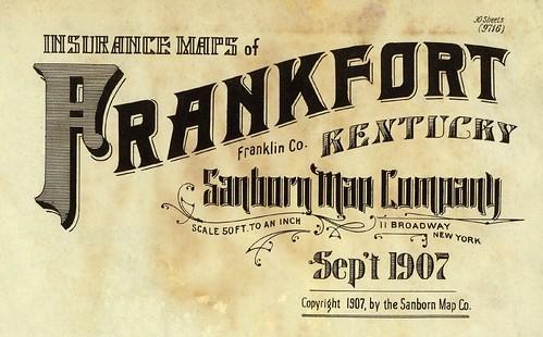 Frankfort, Kentucky September 1907