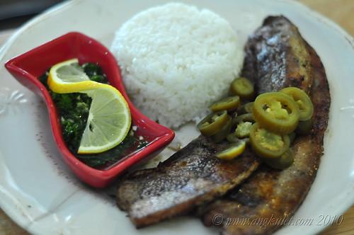Cerdo Vientre Chimuchurri at Cocina Juan