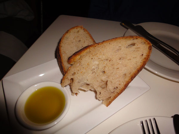 Sourdough bread with olive oil