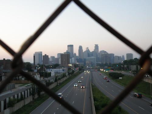 Mpls Skyline through a fence