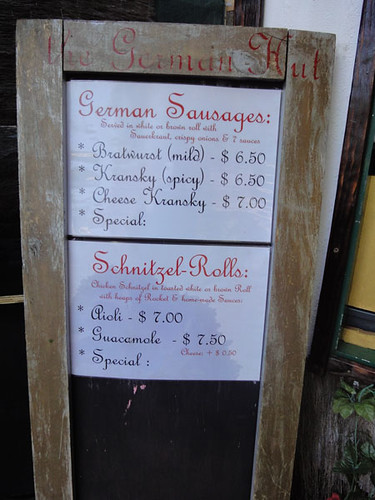Sandwiches menu
