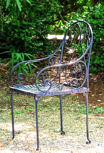 wrought-iron chair