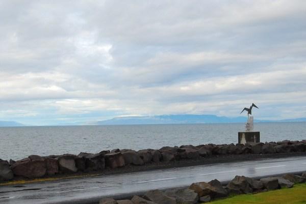 El mar del Norte desde Keflavík