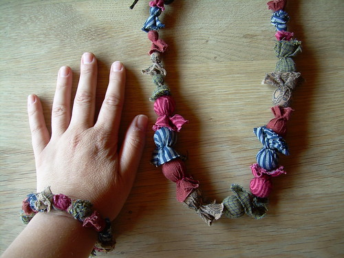 Fabric necklace and bangle