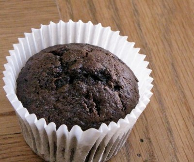 Chocolate courgette cupcake