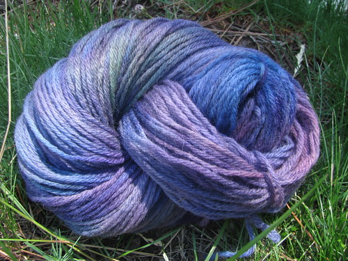 Handspun 4-Ply Domestic Wool Violet