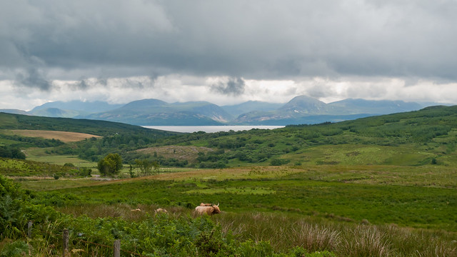 View back to Arran